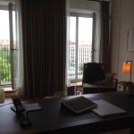 Mein Arbeitsplatz im Louis Hotel.