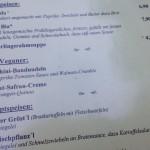 """Auszug aus der Speisekarte des Wirtshauses """"Dorfratsch"""""""