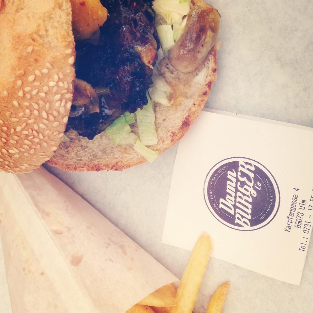 Leckere Seitanburger bei Damn Burger in Ulm.