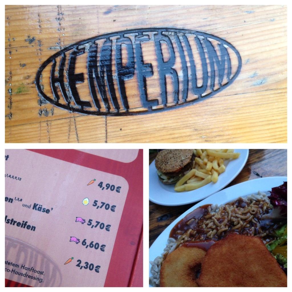 Hanf-Burger und Sellerieschnitzel, Hemperium