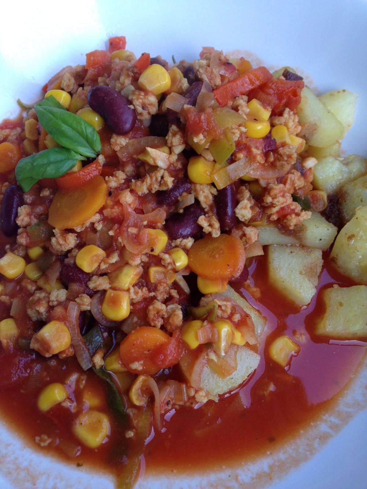 Yummeeeeee und schön scharf: Chili sin Carne (vegan)