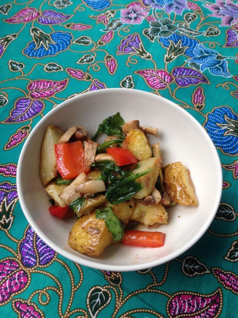 Schmeckt auch mit Rucola-Salat toll.