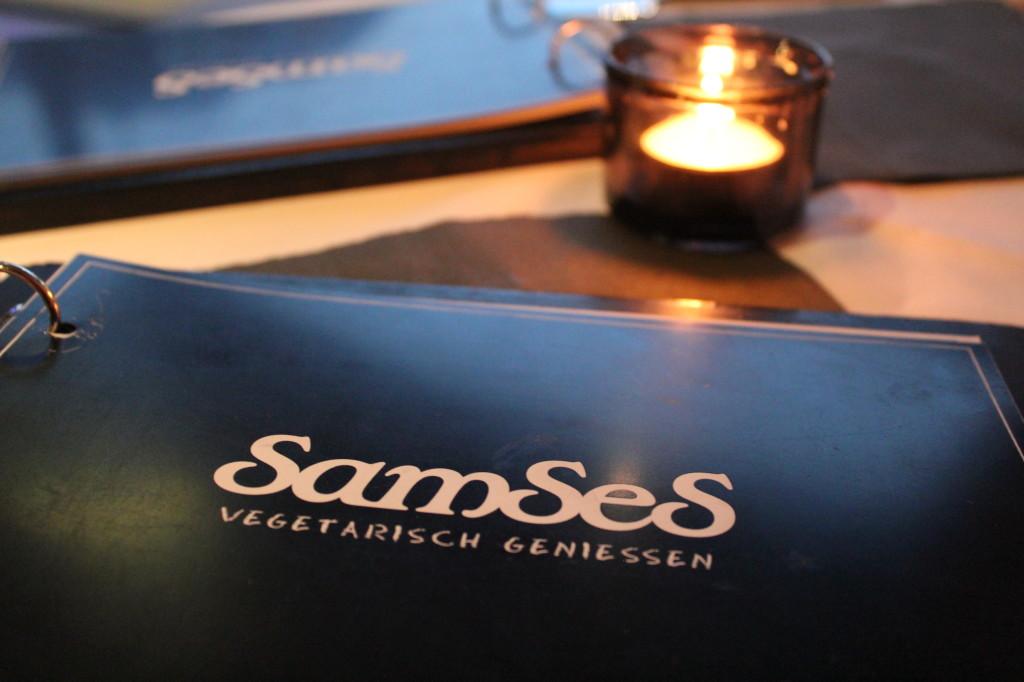 Speisekarte im Restaurant Samses