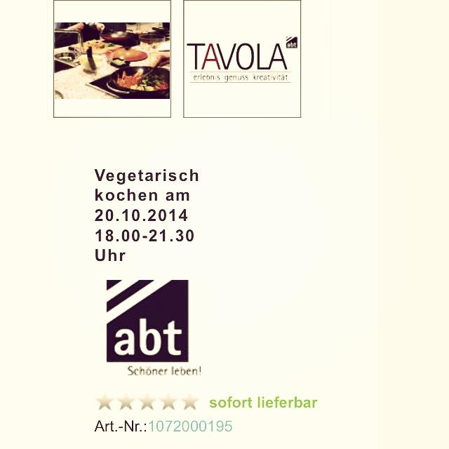 News: Kochkurse bei ABT TAVOLA in Ulm