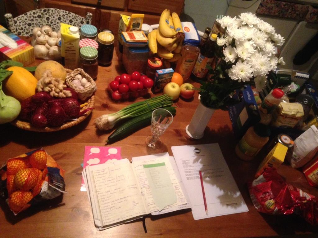 So sehen sie aus, die Vorbereitungen für meinen Brunch-Workshop.
