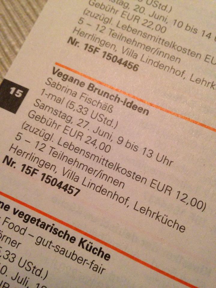 Das neue Sommerpogramm ist da: Vegane Kurse an der Volkshochschule Ulm