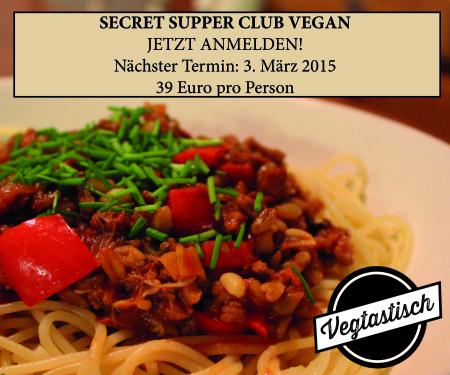 Vegan Supper Club März
