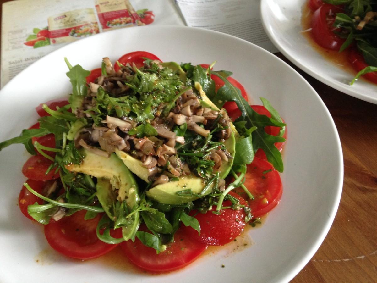 Rezept ala GEFRO Balance: Salat mit Pilztartar