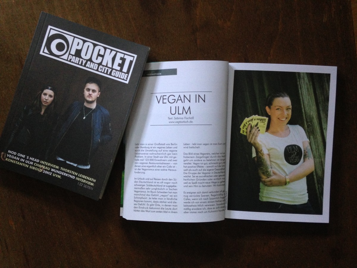 "Kolumne im POCKET Magazin: ""Vegan in Ulm"""