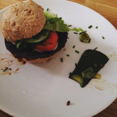 Gegrillte Portobello-Burger