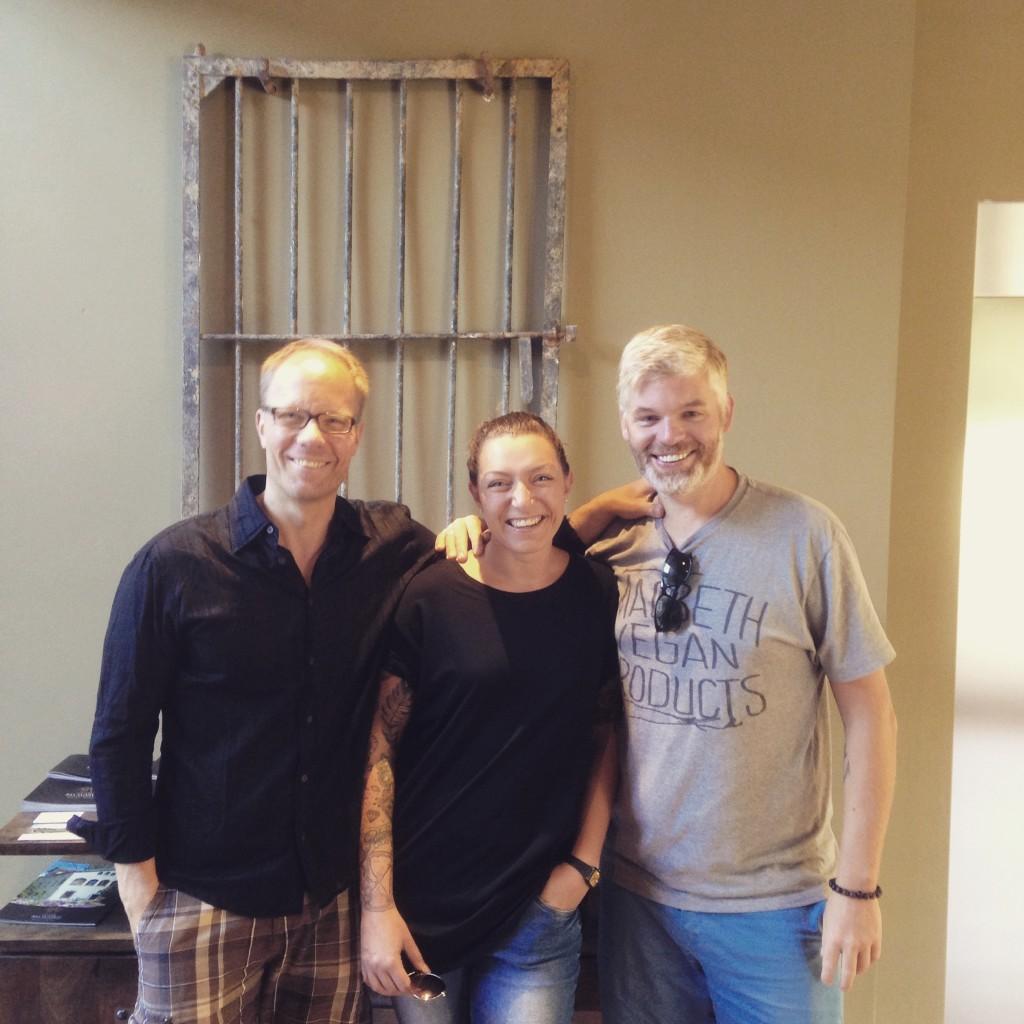 Mit den beiden Bloggern Marcus Schall und Patrick Bolk