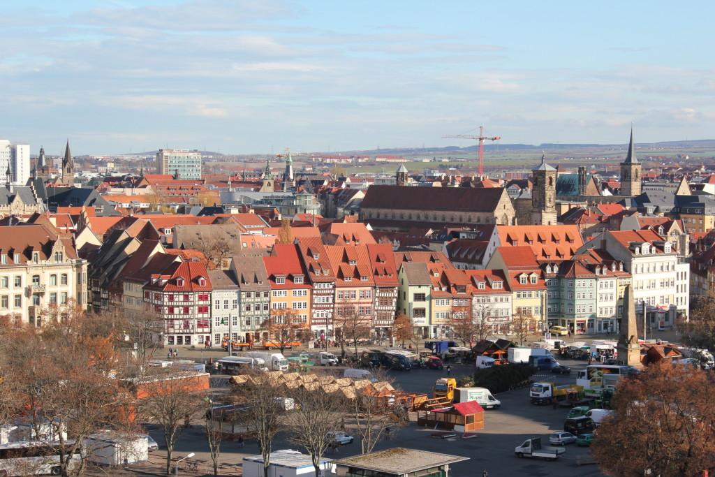 Blick auf Erfurts Altstadt