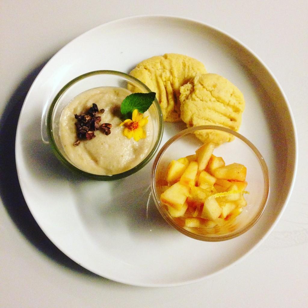 Dessert: Apfel-Zimt-Reiscreme und Ingwerkekse