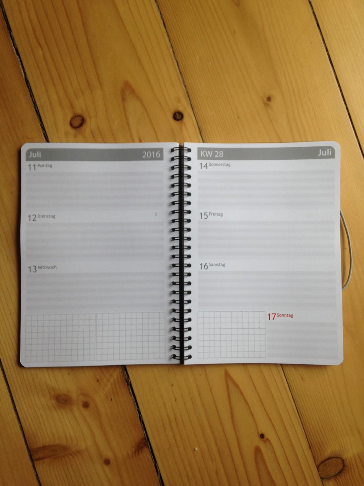Adventskalender 9. Dezember: Taschenkalender Gewinnspiel
