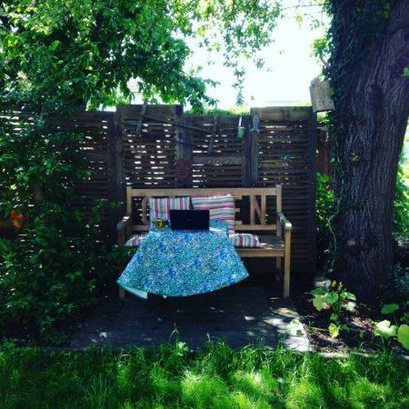 Eine meiner Arbeitsecken in meinem Garten.