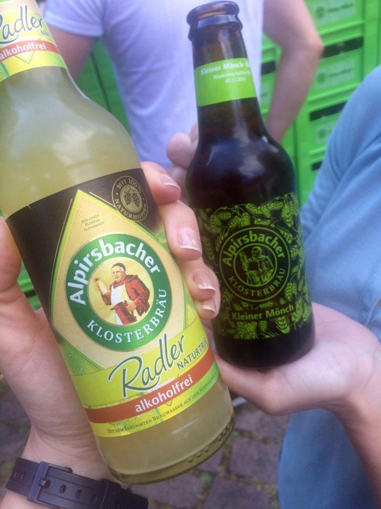 Leckeres Bier für die Mädchen gab´s auch auf dem Hopfenfest.