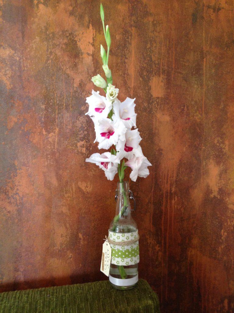 Das Ergebnis - meine DIY-Blumenvase