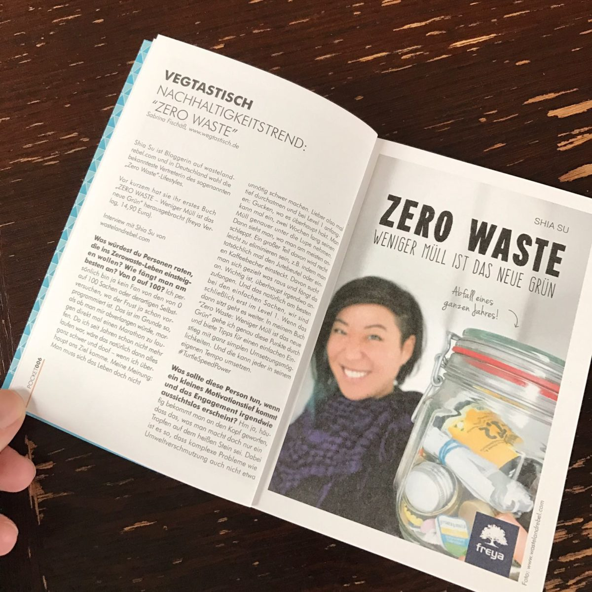 """Kolumne im POCKET MAGAZIN: Nachhaltigkeitstrend """"Zero Waste"""" – Interview mit Bloggerin und Autorin Shia Su von wastelandrebel.com"""