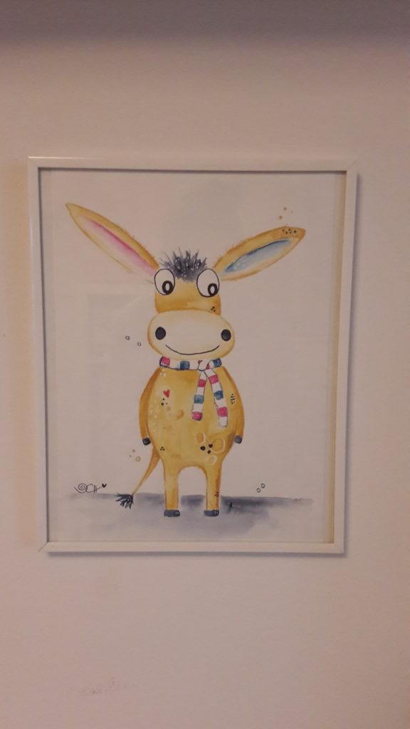 Unser Esel als süße Zeichnung von Clarissa Hagenmeyer.