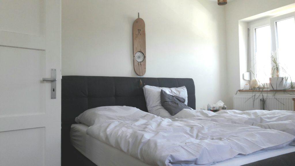 Zuletzt War Nun Also Das Schlafzimmer Dran. Wir Haben Uns Endlich Von  Unserem Alten MALM Bett Von IKEA Getrennt (zu Zweit Auf 1,40 M Ist Echt  Langsam Zu ...