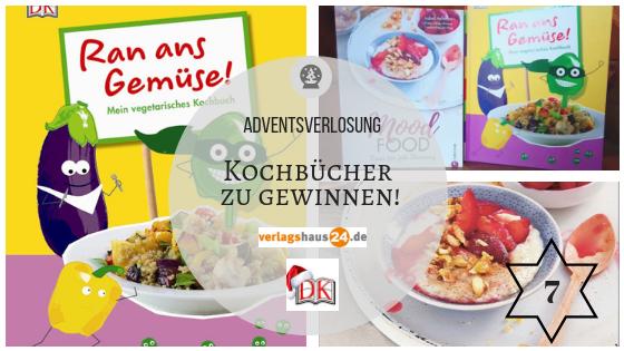 """Zu gewinnen am 7. Dezember: """"Mood Food – Essen für jede Stimmung"""" und """"Ran ans Gemüse – Mein vegetarisches Kochbuch"""""""