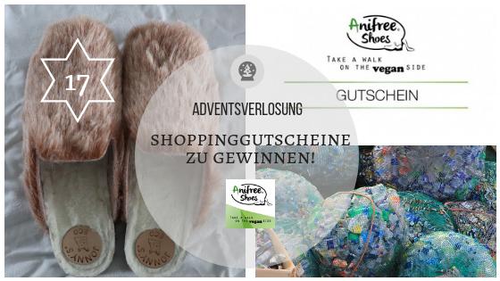 Adventskalender 17. Dezember: Shopping-Gutscheine für vegane Mode zu gewinnen mit Anifree Shoes