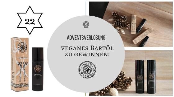 Adventskalender 22. Dezember 2018: Wundervolles veganes Bartbarossa Bartöl zu gewinnen!