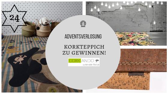 24. Dezember 2018 – Adventskalender: Traumhafte vegan Korkteppiche von 'Corkando' (HAUPTGEWINN-VERLOSUNG!)