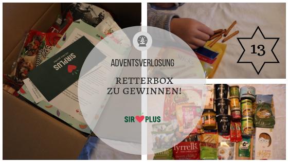 Adventskalender 13. Dezember 2018: Lebensmittel retten mit den SIRPLUS Retterboxen – mit Gewinnspiel!