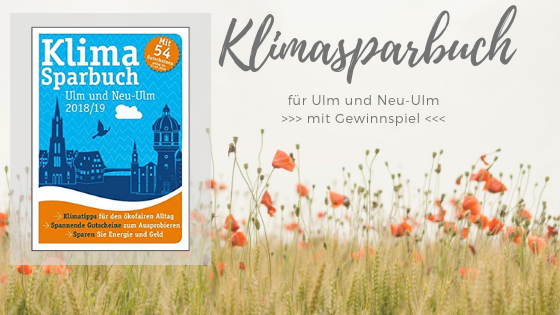 POCKET Kolumne März: Das 'Klimasparbuch Ulm und Neu-Ulm' – inklusive Gewinnspiel!