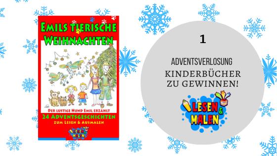 Adventskalender 1. Dezember 2019: Kinderbuch 'Emils tierische Weihnachten' gewinnen!