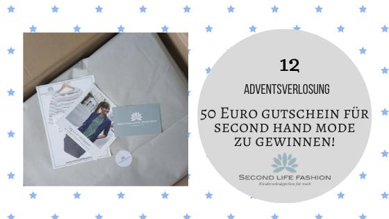 12. Dezember 2019: 50 Euro Einkaufsgutschein von 'Second Life Fashion' Second Hand Mode