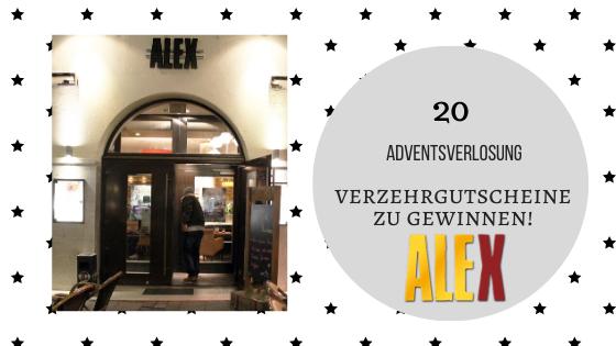 20. Dezember 2019: Verzehrgutscheine für die ALEX – Restaurants
