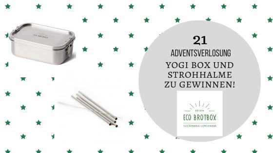 Adventskalender 21. Dezember 2019: Die Idee von ECO Brotbox
