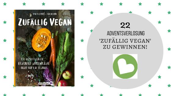 22. Dezember 2019: Gewinnspiel 'Zufällig vegan' von Marty Dymek – Smarticular Verlag