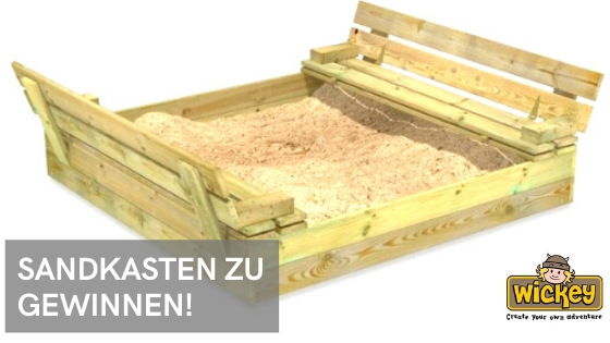 Der Sommer kann kommen! Gewinnt einen tollen Sandkasten von Wickey!